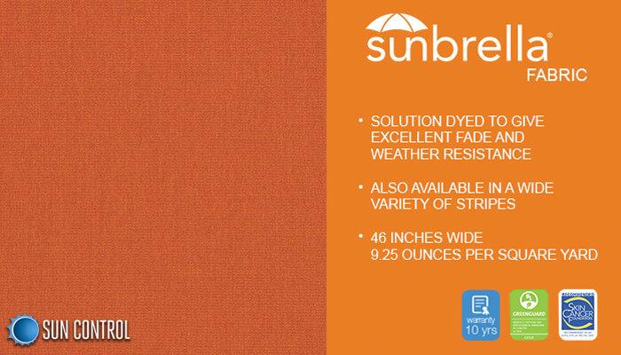 Sunbrella Solid Rust