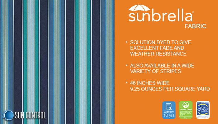 Sunbrella Stripe Saxon Cascade