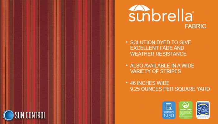 Sunbrella Stripe Saxon Chili