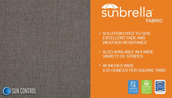 Sunbrella Texture Silica Charcoal