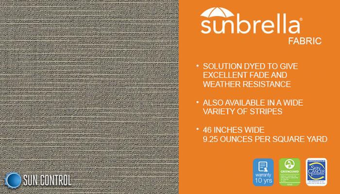 Sunbrella Texture Silica Stone