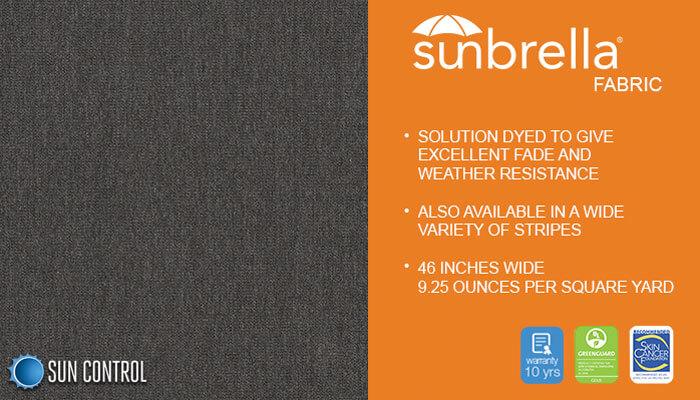Sunbrella Solid Slate
