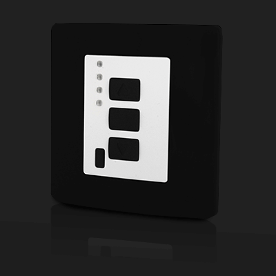Surface Mounted Control 4 ch Black