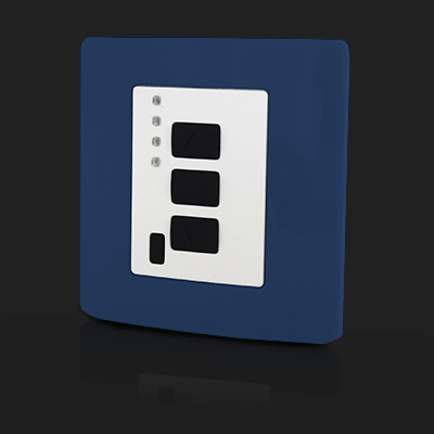 Surface Mounted Control 4 ch Blue
