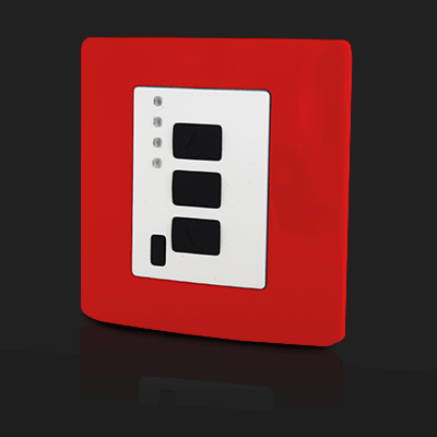 Surface Mounted Control 4 ch Red