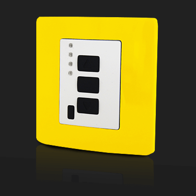 Surface Mounted Control 4 ch Yellow