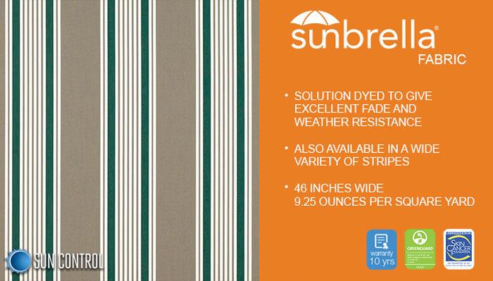 Sunbrella Stripe Taupe 5 Bar