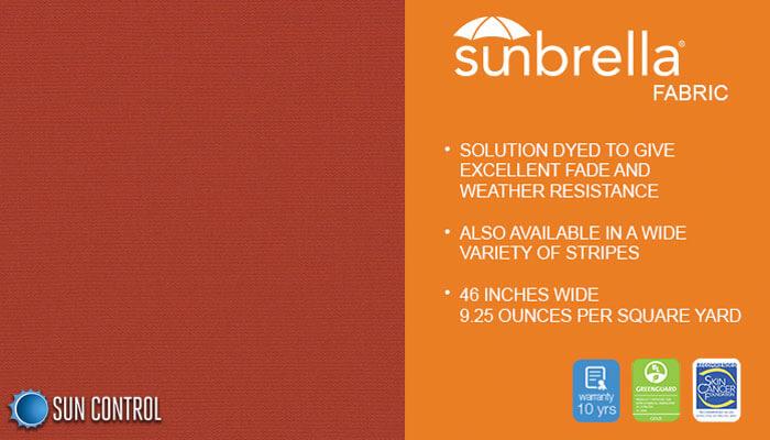 Sunbrella Solid Terracotta