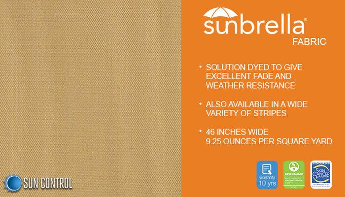 Sunbrella Texture Tresco Brass