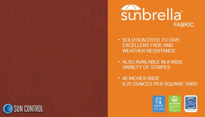 Sunbrella Texture Tresco Brick