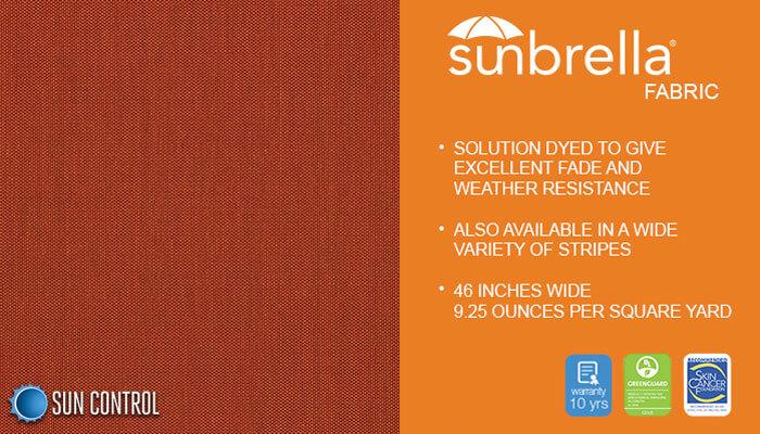 Sunbrella Texture Tresco Clay