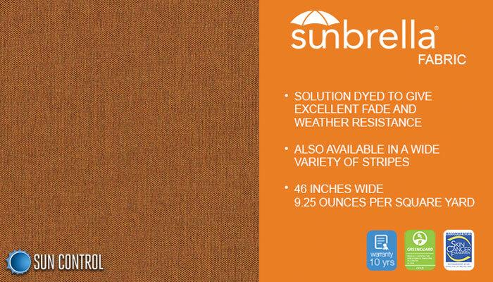 Sunbrella Texture Tresco Ginger
