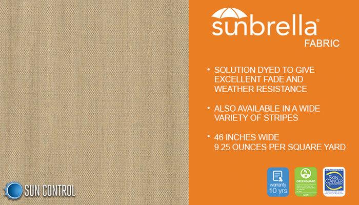 Sunbrella Texture Tresco Linen