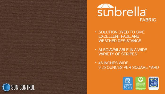 Sunbrella Solid True Brown