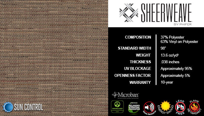 SheerWeave 5000 Tweed Buckeye