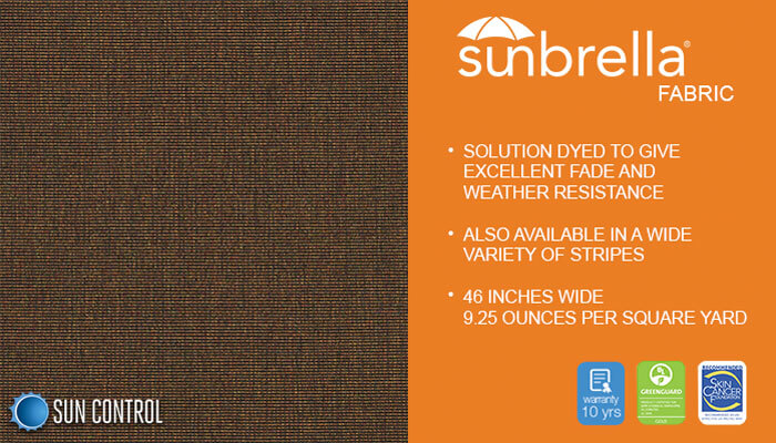 Sunbrella Tweed Walnut Brown