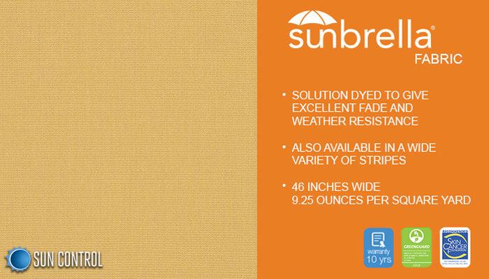 Sunbrella Solid Wheat