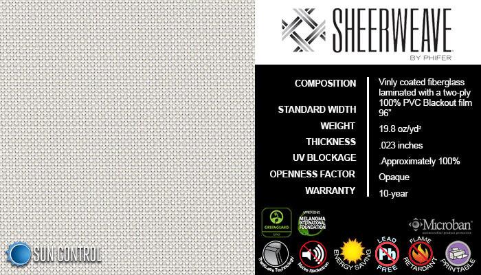 SheerWeave Blackout 7100 White Bone