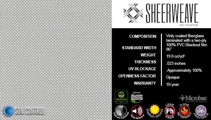 SheerWeave Blackout 7100 White Platinum